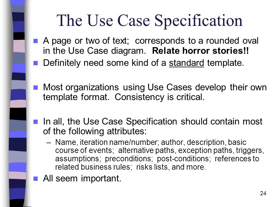 Use case diagrams use case descriptions ppt video online download the use case specification ccuart Choice Image