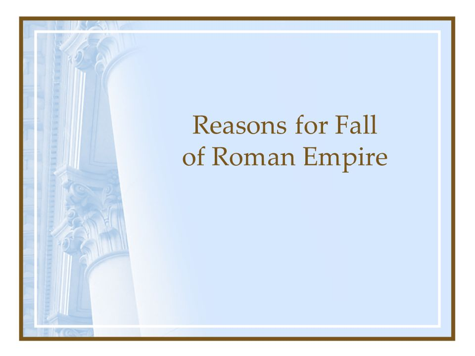 "Part 1 ""The Fall of the Roman Empire"" by Harry Whittington – Chaos in the Curia"