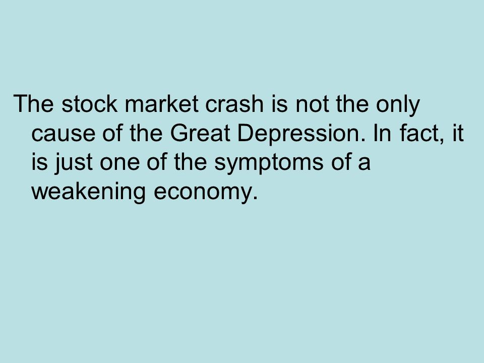 causes of the great depression: - ppt download, Skeleton