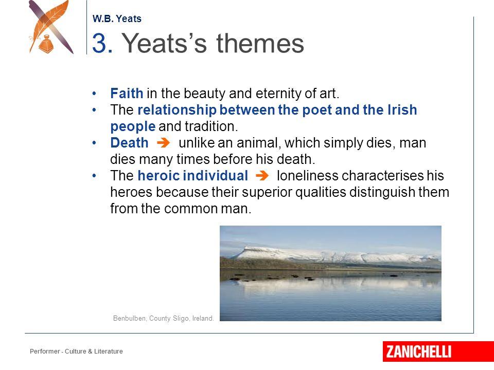 yeats and his treatment of irish Yeatsa study of selected poems by wb  an irish writer yeats asserts pearse and macdonagh  to illustrate his point, yeats also makes his sentence.