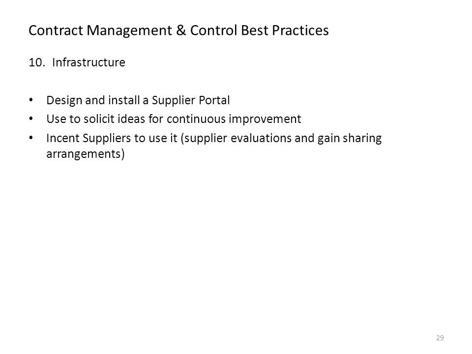 Best Practices For Managing The Performance Of Suppliers
