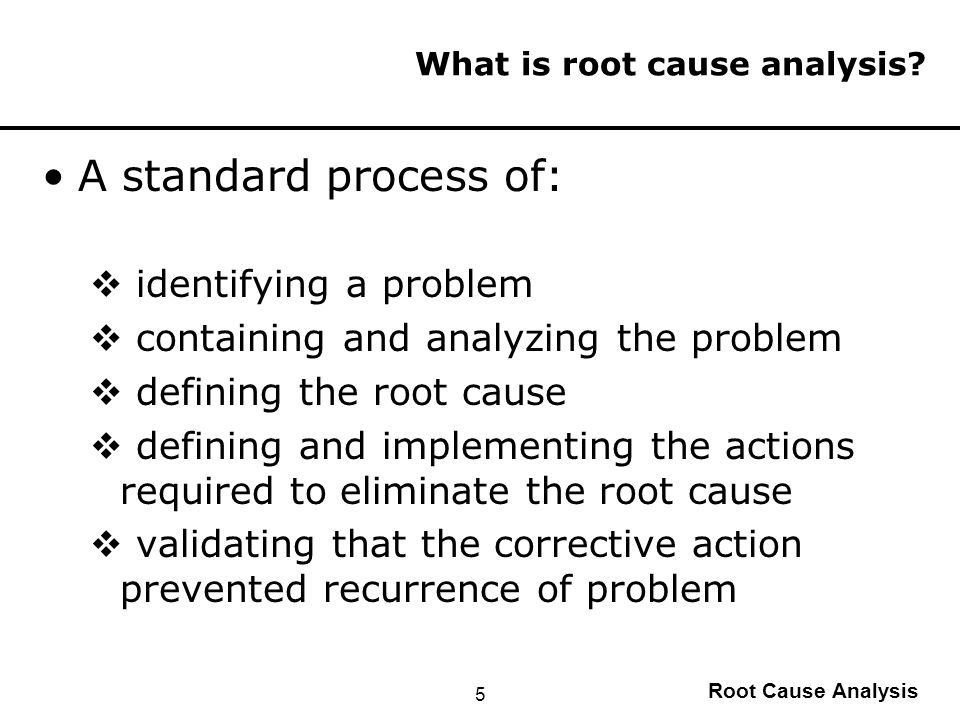 root cause analysis and conscious sedation Department of veterans affairs office of inspector general moderate sedation root cause analysis feedback is provided to those who reported the incident.