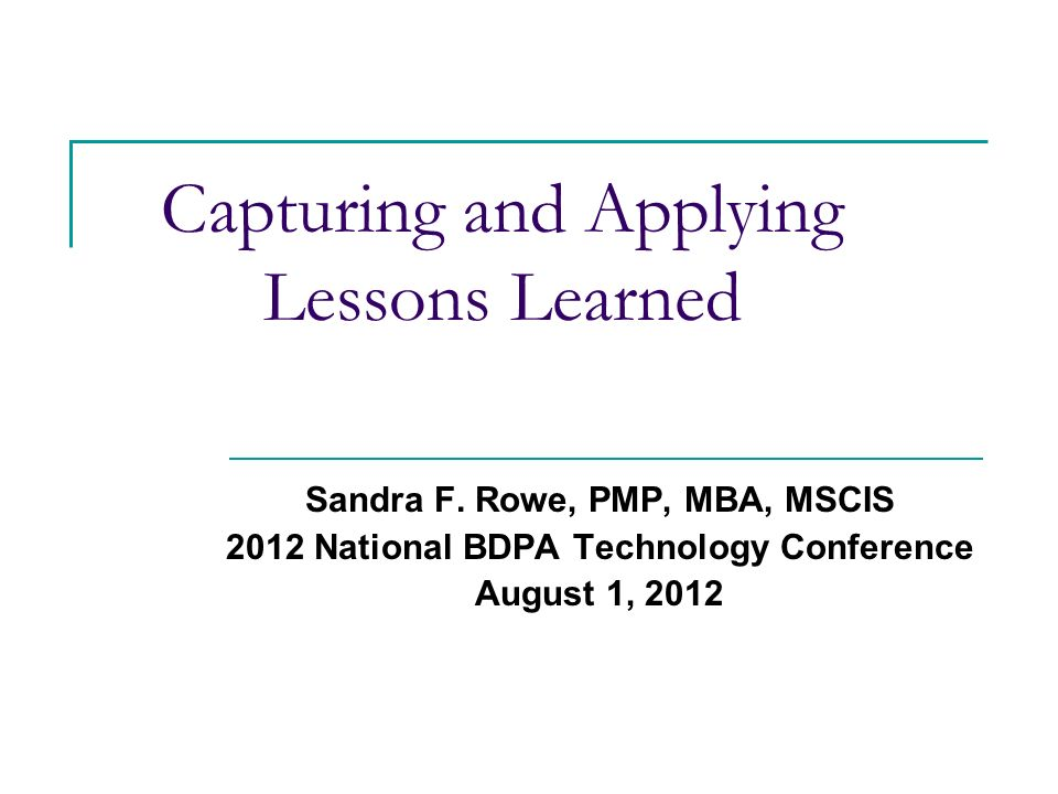 Capturing and applying lessons learned ppt download capturing and applying lessons learned pronofoot35fo Choice Image