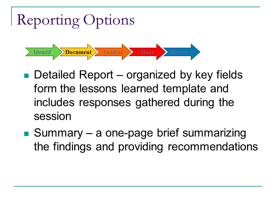 Capturing and applying lessons learned ppt download document analyze store retrieve pronofoot35fo Choice Image