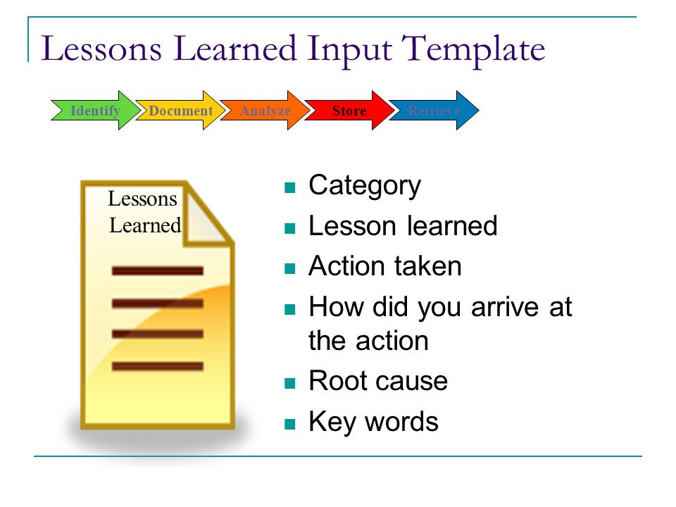 Lesson Learned Template