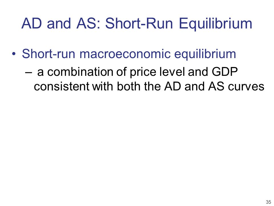 AD and AS: Short-Run Equilibrium