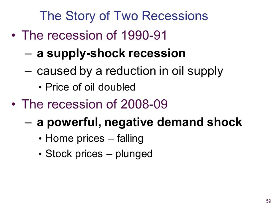 The Story of Two Recessions
