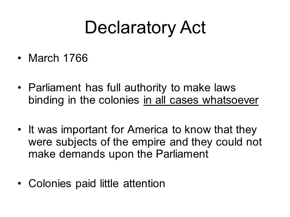 Declaratory Act Of 1766 Drawing