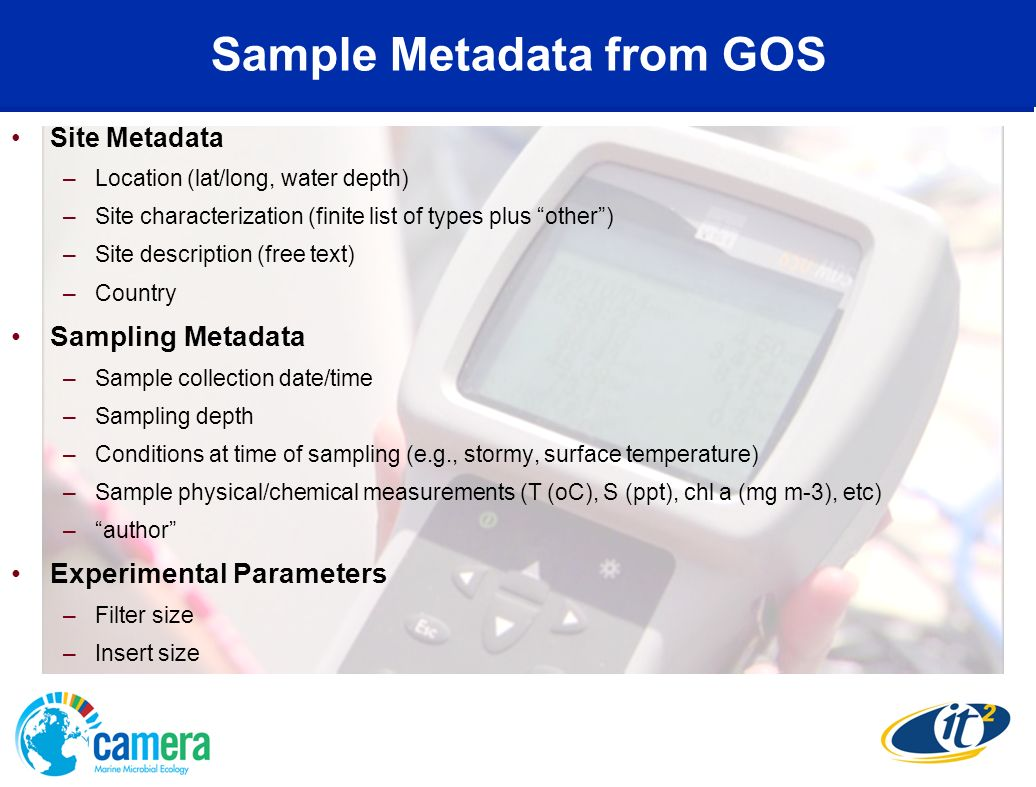 Sample Metadata from GOS