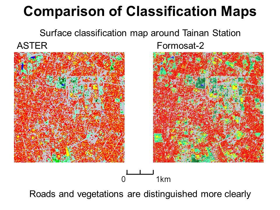 Comparison of Classification Maps