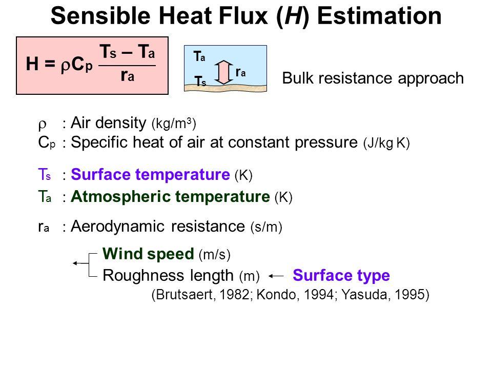 Sensible Heat Flux (H) Estimation