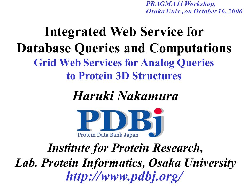 Integrated Web Service for Database Queries and Computations