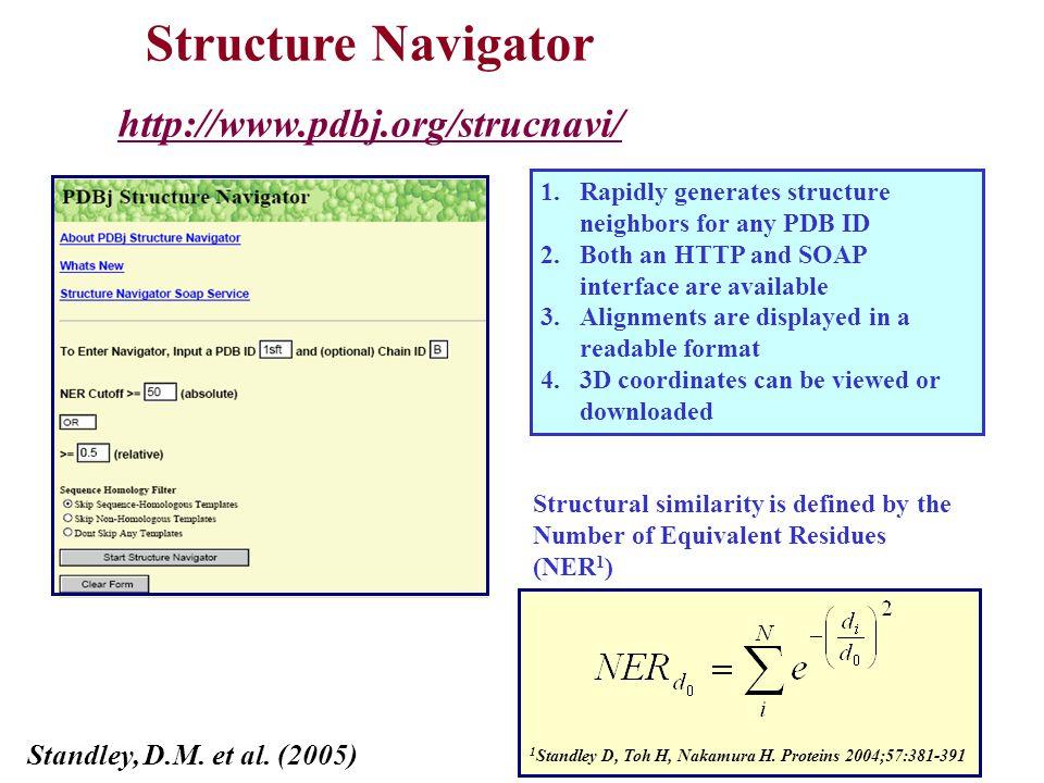 Structure Navigator http://www.pdbj.org/strucnavi/