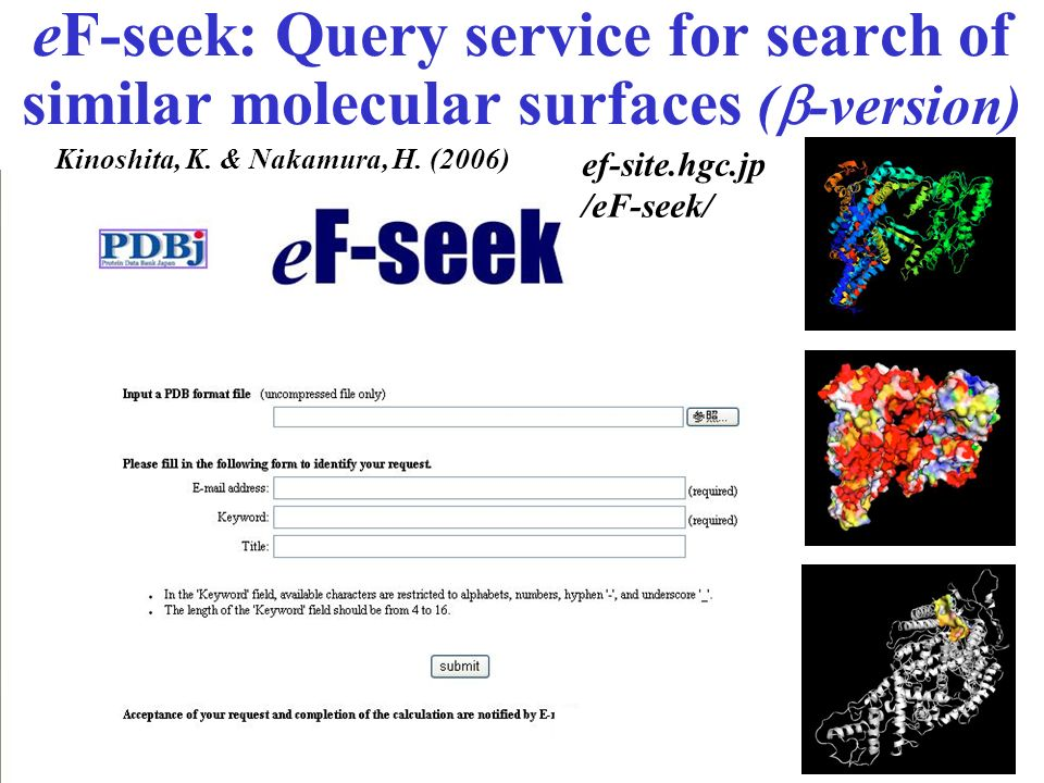eF-seek: Query service for search of similar molecular surfaces (b-version)