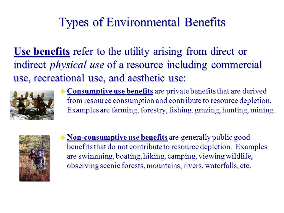 3 Types of Environmental Benefits