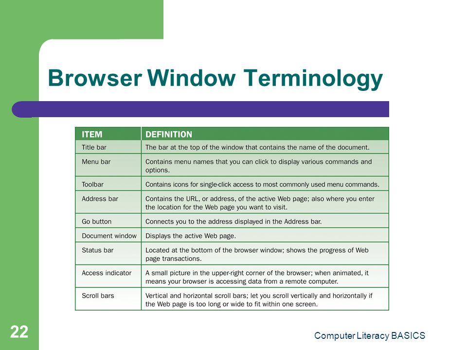 Browser Window Terminology