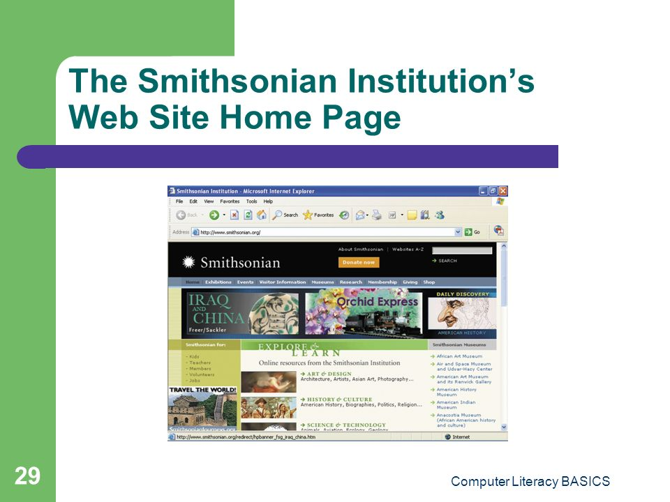 The Smithsonian Institution's Web Site Home Page