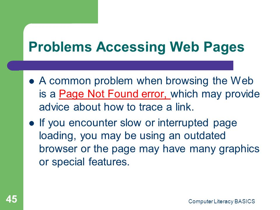 Problems Accessing Web Pages