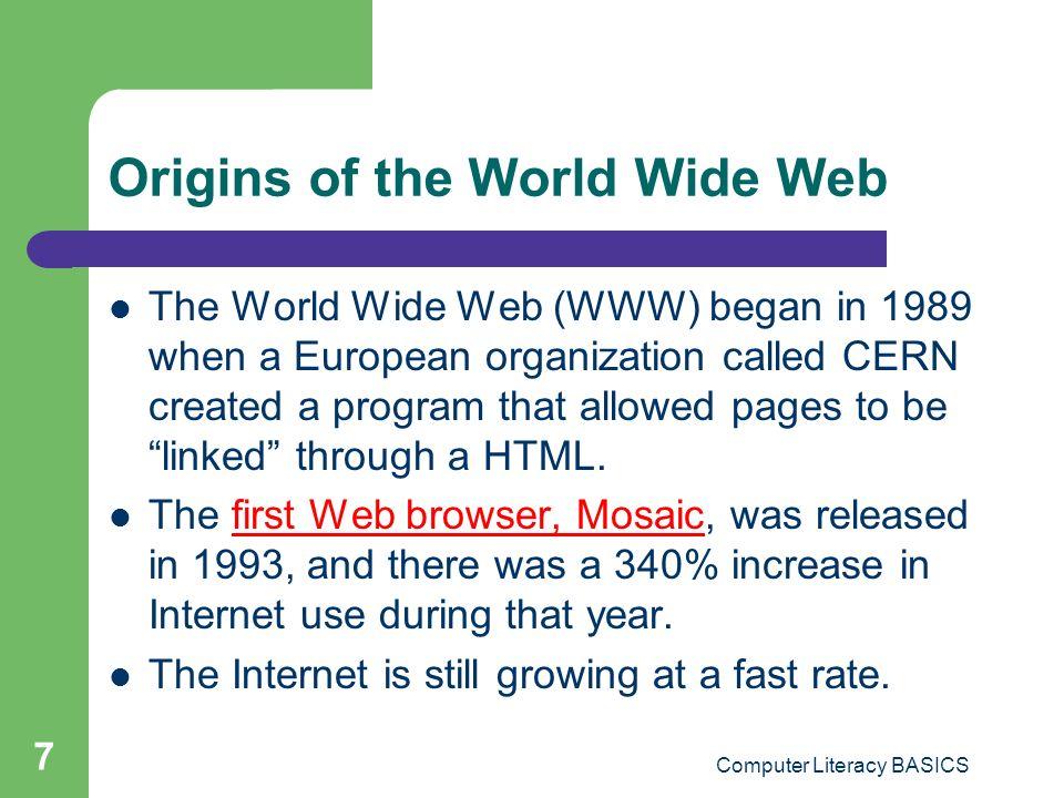 Origins of the World Wide Web