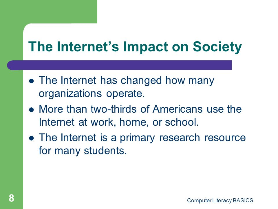 The Internet's Impact on Society