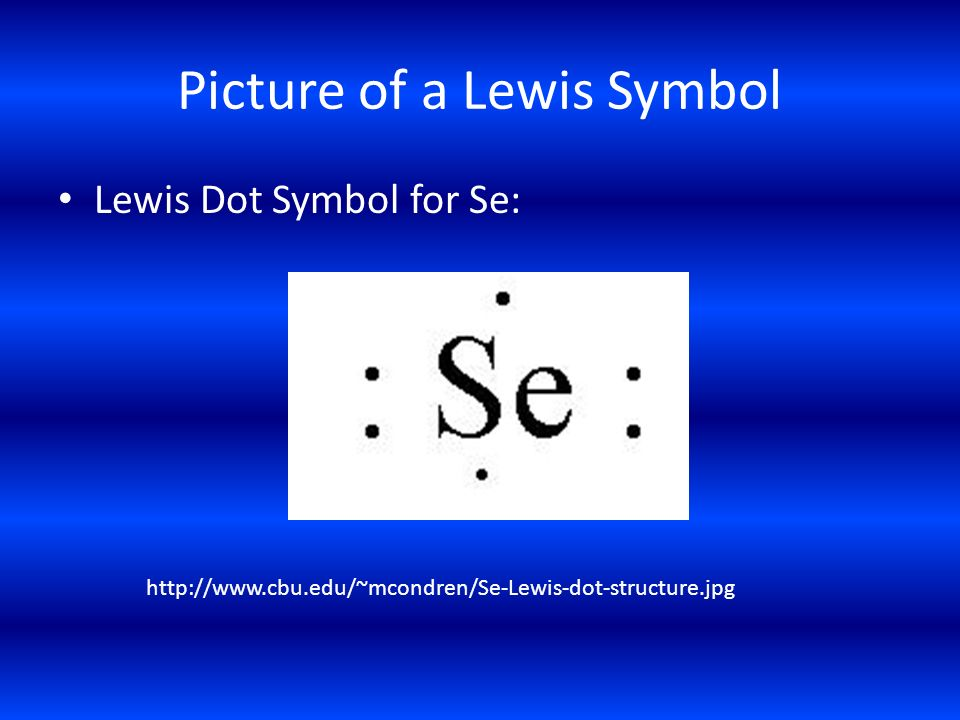 Picture of a Lewis Symbol