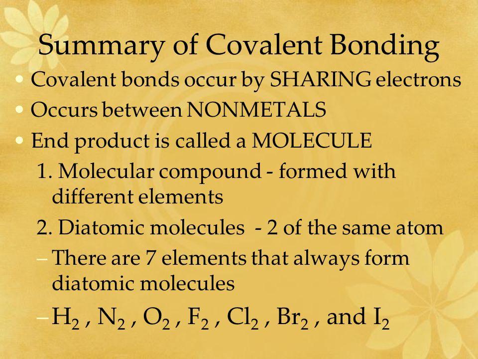 Unit 7 Covalent Bonding. - ppt download