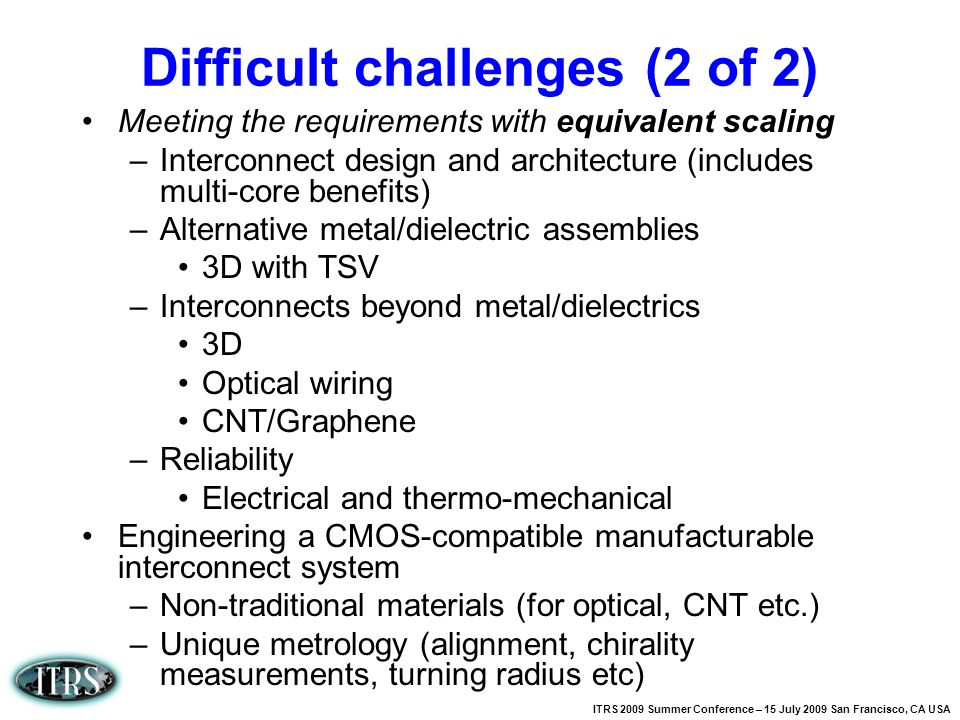 Difficult challenges (2 of 2)