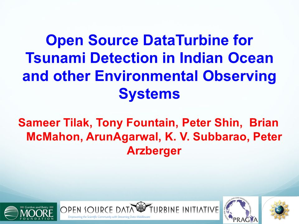 Open Source DataTurbine for Tsunami Detection in Indian Ocean and other Environmental Observing Systems