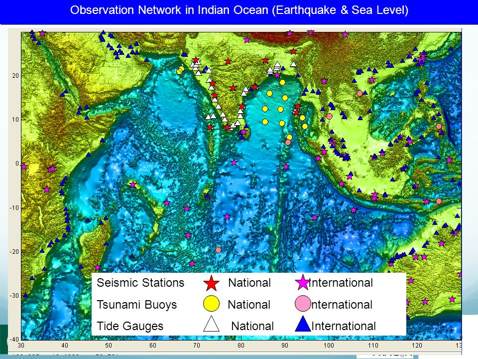 Observation Network in Indian Ocean (Earthquake & Sea Level)