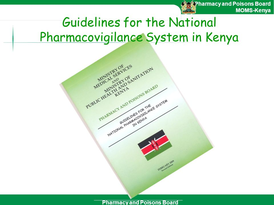 Guidelines for the National Pharmacovigilance System in Kenya