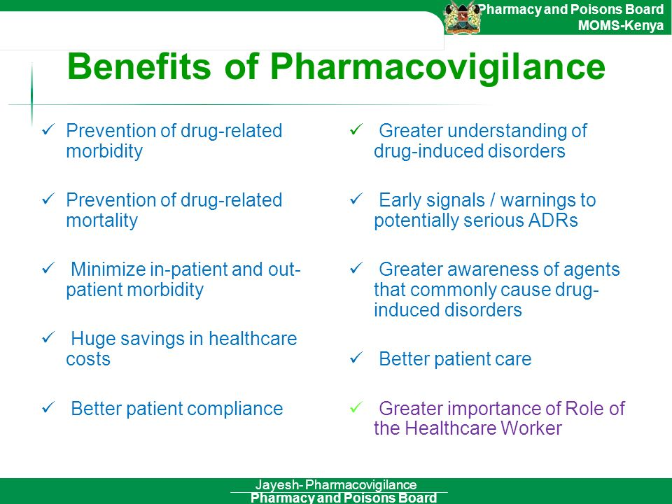 Benefits of Pharmacovigilance