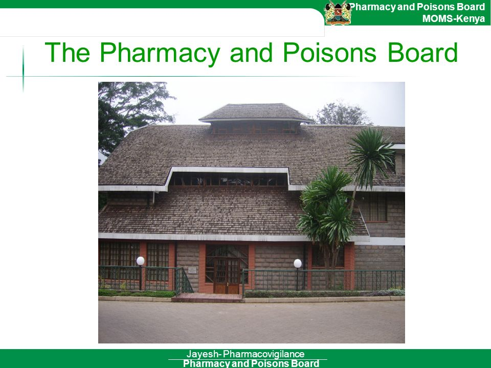 The Pharmacy and Poisons Board