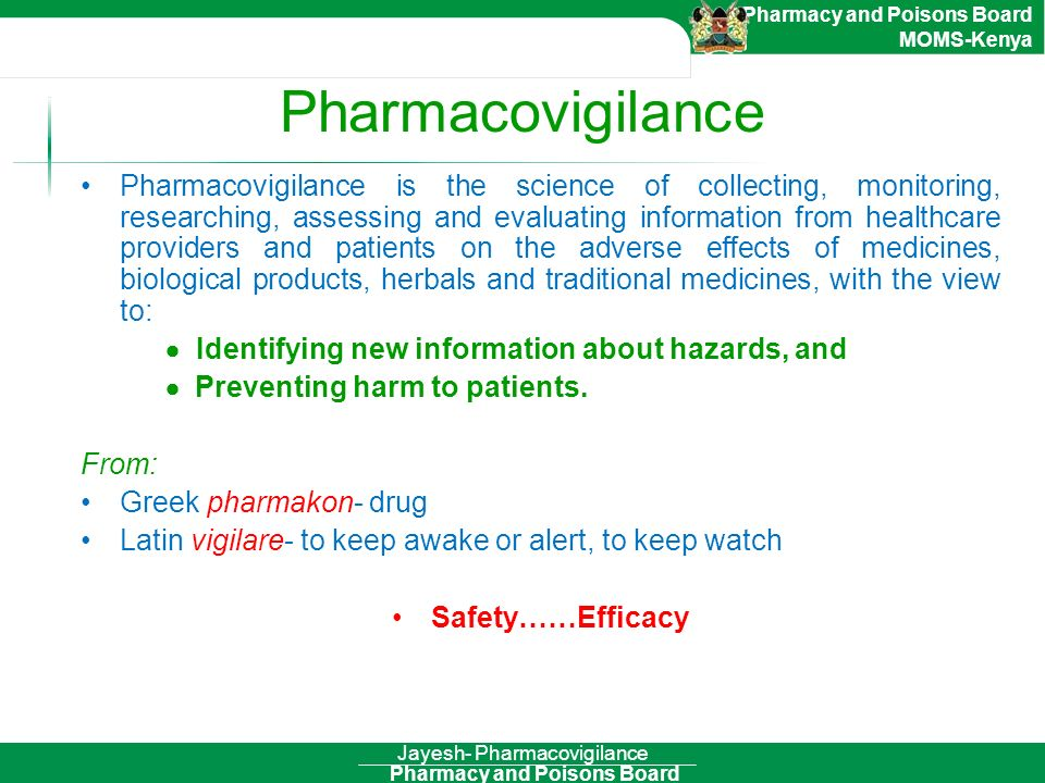 Jayesh- Pharmacovigilance