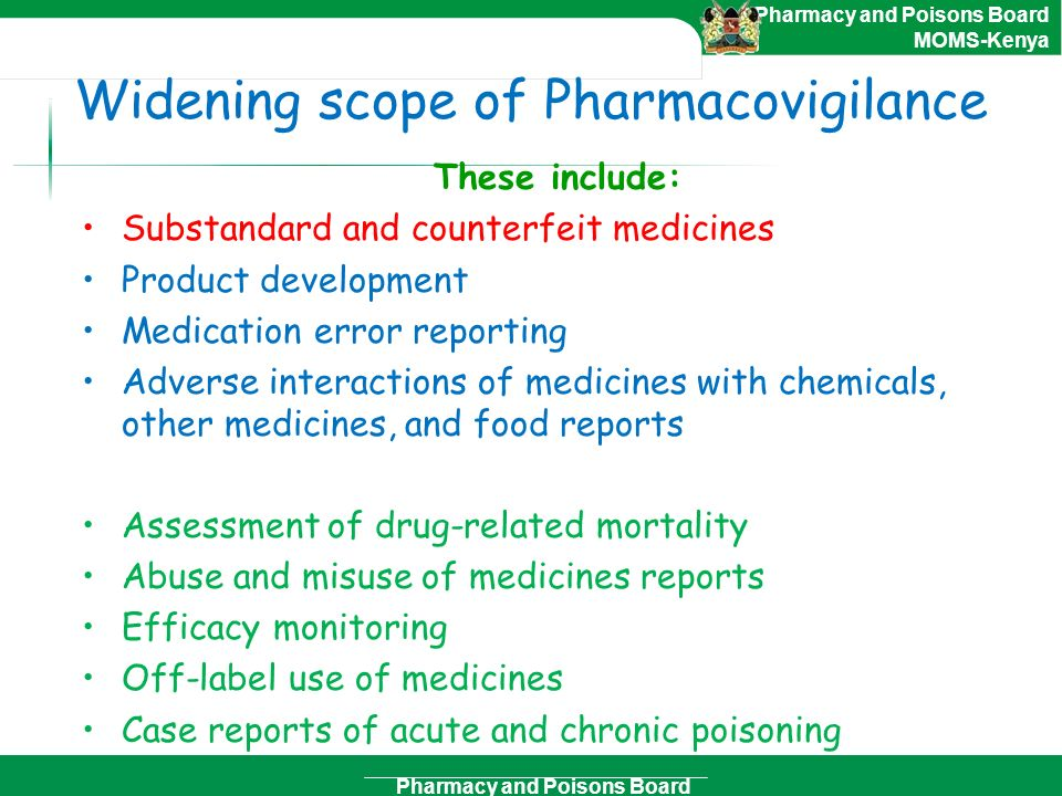 Widening scope of Pharmacovigilance