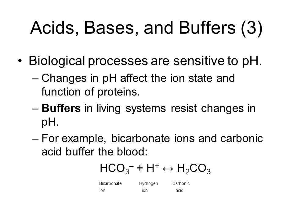 chemistry buffers bicarbonate buffers Buffers a guide for the preparation and use of buffers in biological systems advancing your life science discoveries  approximate ph and bicarbonate concentration in.