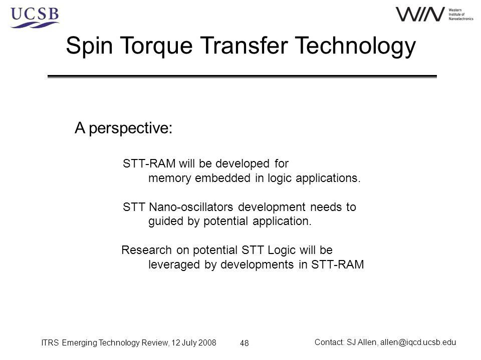 Spin Torque Transfer Technology