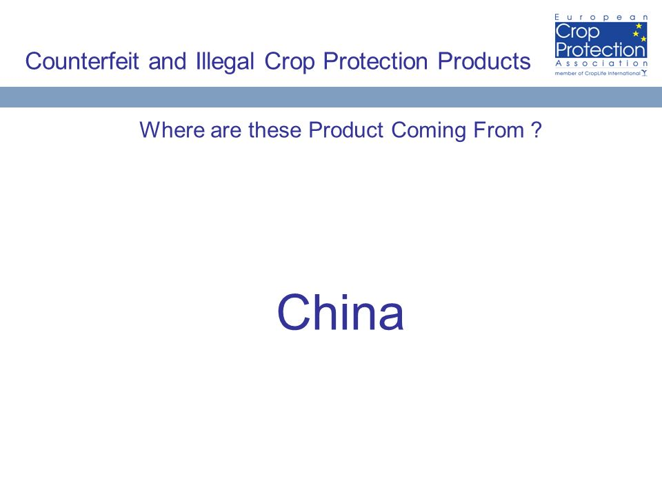Counterfeit and Illegal Crop Protection Products