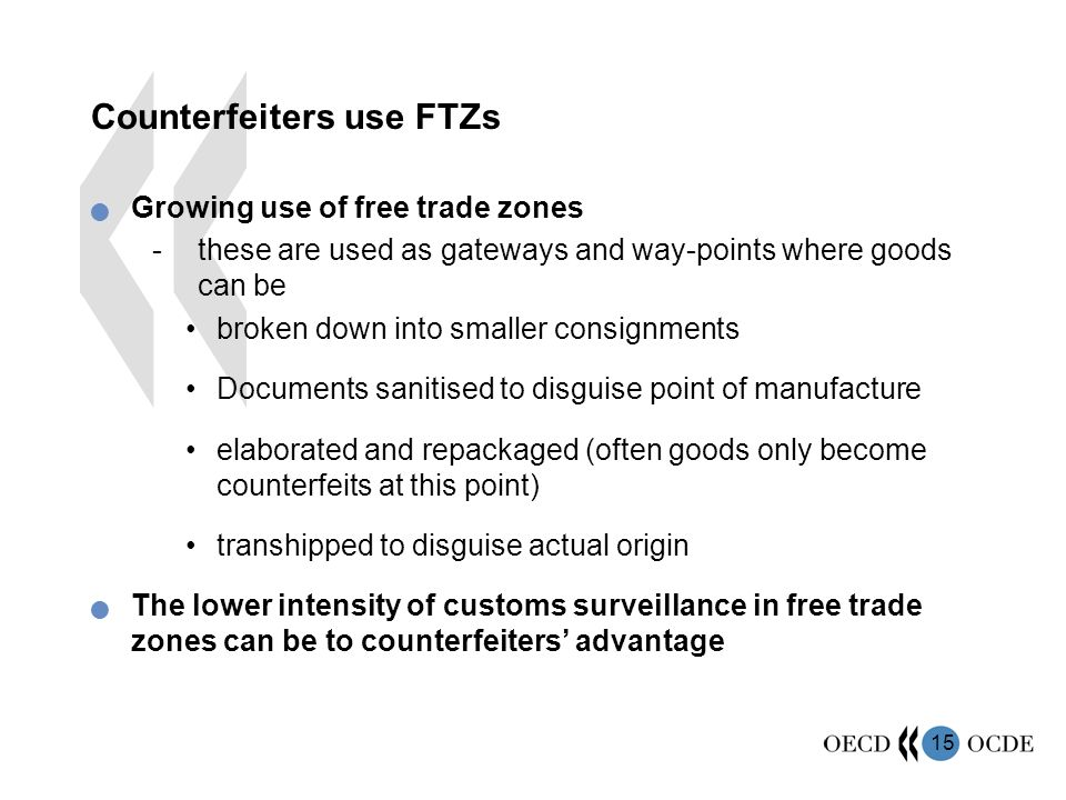 Counterfeiters use FTZs