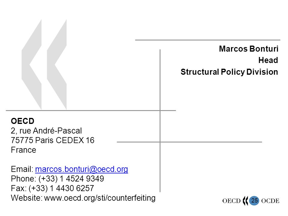 Marcos Bonturi Head Structural Policy Division