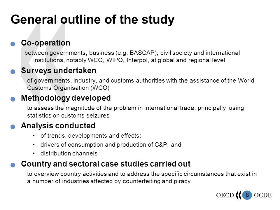 General outline of the study