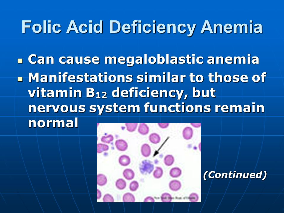 effects of folic acid deficiency on Find medical information for folic acid including its uses, side effects and safety, interactions, pictures, and warnings.