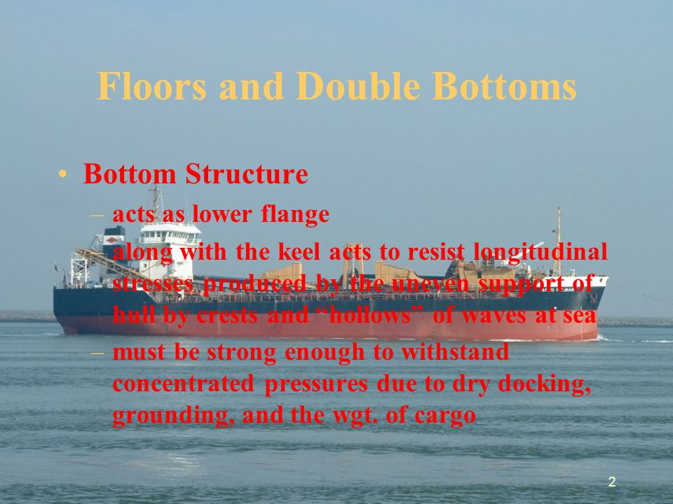 Description of double bottomed hull