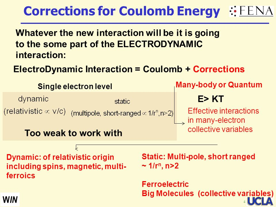 Corrections for Coulomb Energy