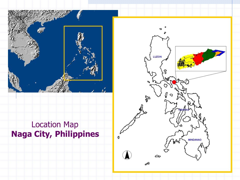 Location Map Naga City, Philippines