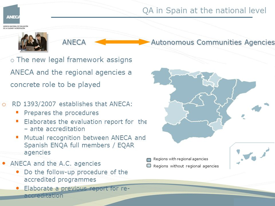 QA in Spain at the national level