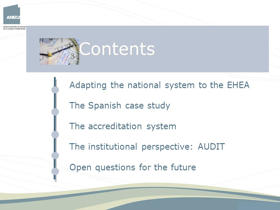 Contents Adapting the national system to the EHEA