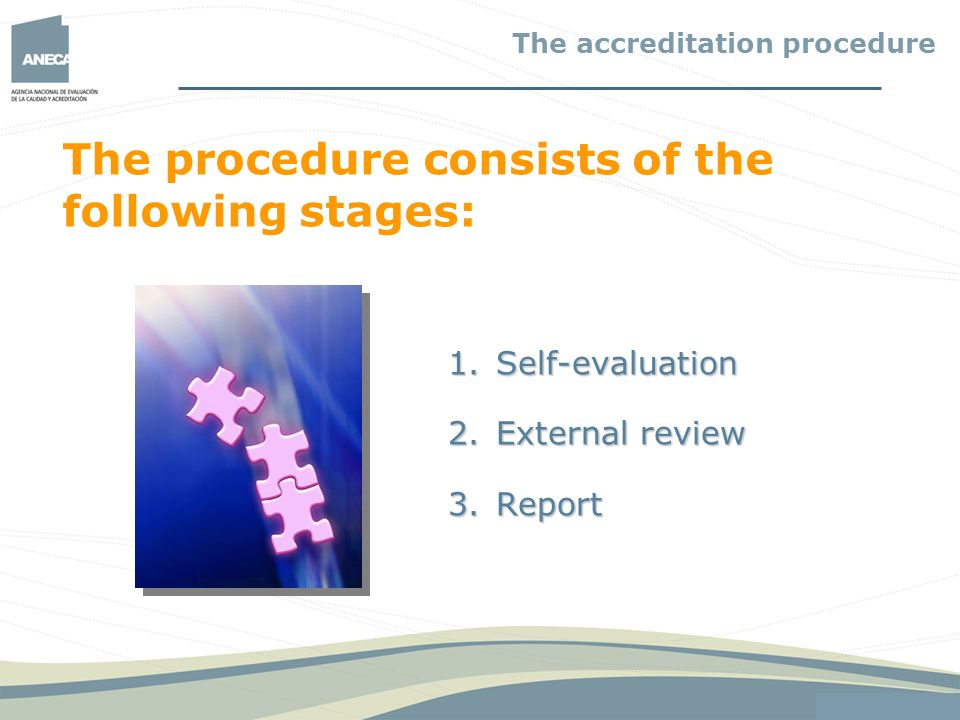 The procedure consists of the following stages: