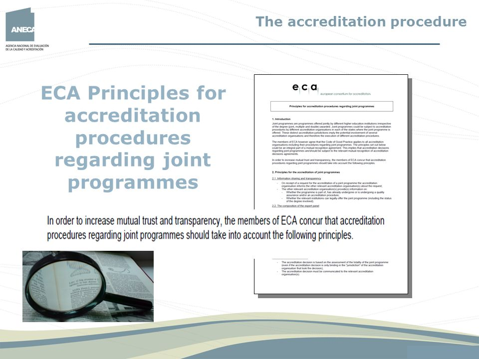 ECA Principles for accreditation procedures regarding joint programmes