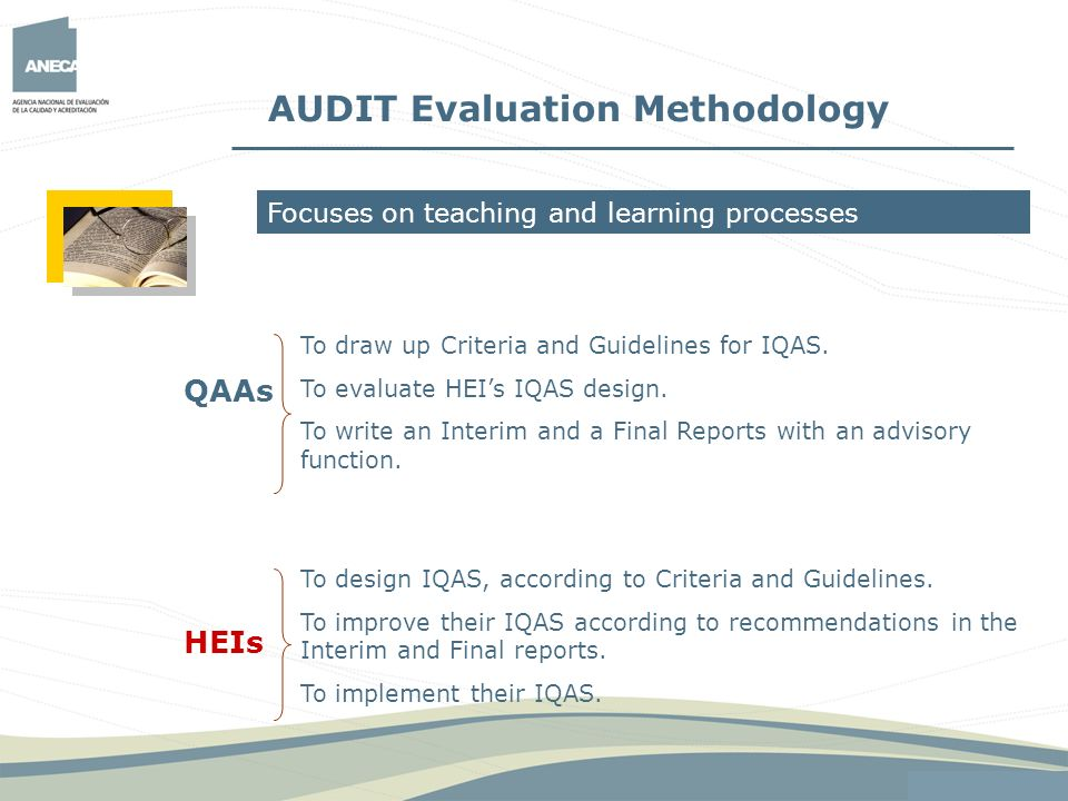 AUDIT Evaluation Methodology