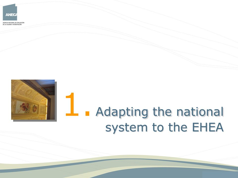 1. Adapting the national system to the EHEA